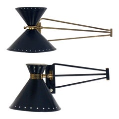 Selection of Articulating Wall Sconces by Rene Mathieu for Maison Lunel