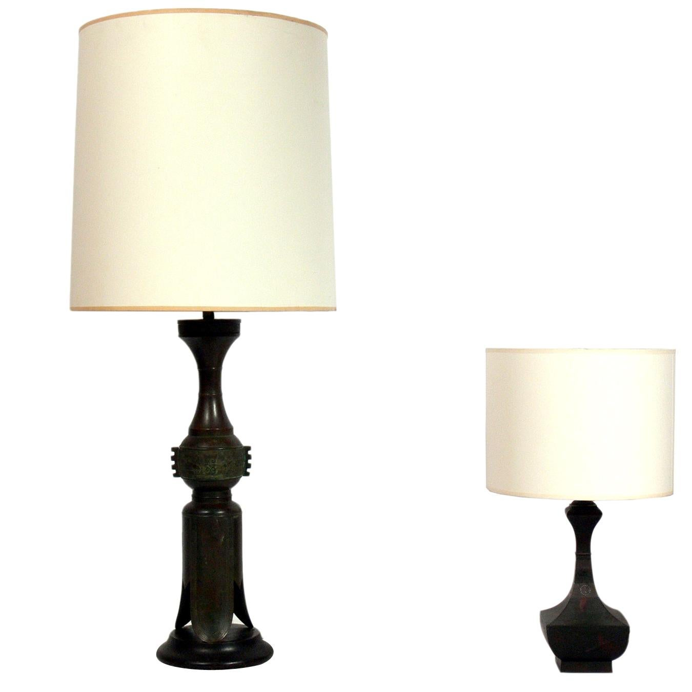 Selection of Asian Bronze Lamps