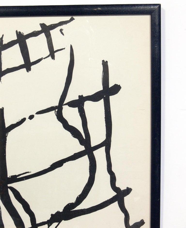 Mid-Century Modern Selection of Black and White Abstract Artwork For Sale