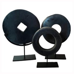 Selection of Black Stone Coins from Indonesia