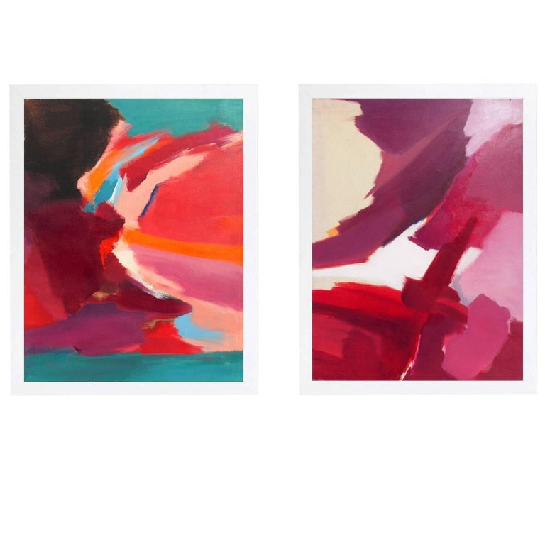 Selection of Colorful 1980s Abstract Paintings For Sale