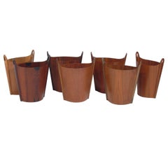 Selection of Danish Modern Waste Cans by Einar Barnes for P.S. Heggen