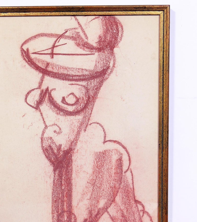 Selection of Figural Drawings in Vintage Gilt Frames For Sale 2