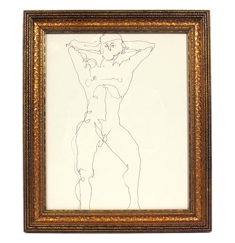 American Selection of Figural Line Drawings by Miriam Kubach For Sale