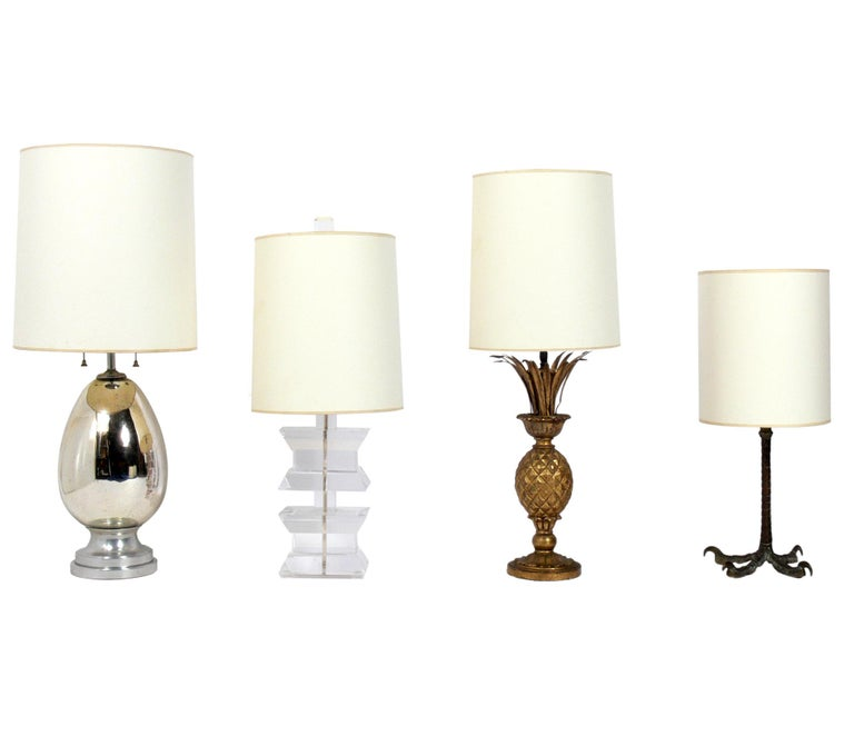 Selection of Glamorous Midcentury Lamps For Sale