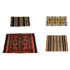 Selection of Hand Woven Flat Weave Rugs or Carpets
