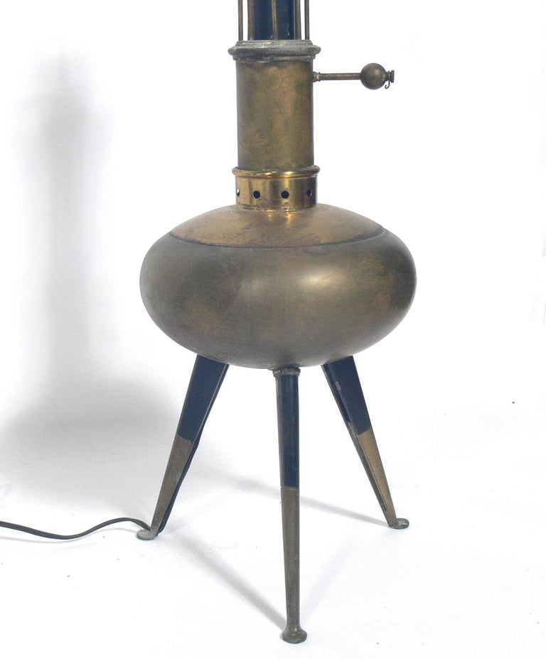 Metal Selection of Italian Midccentury Lamps For Sale