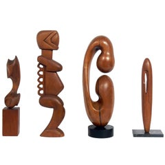 Selection of Large Abstract Wood Sculptures