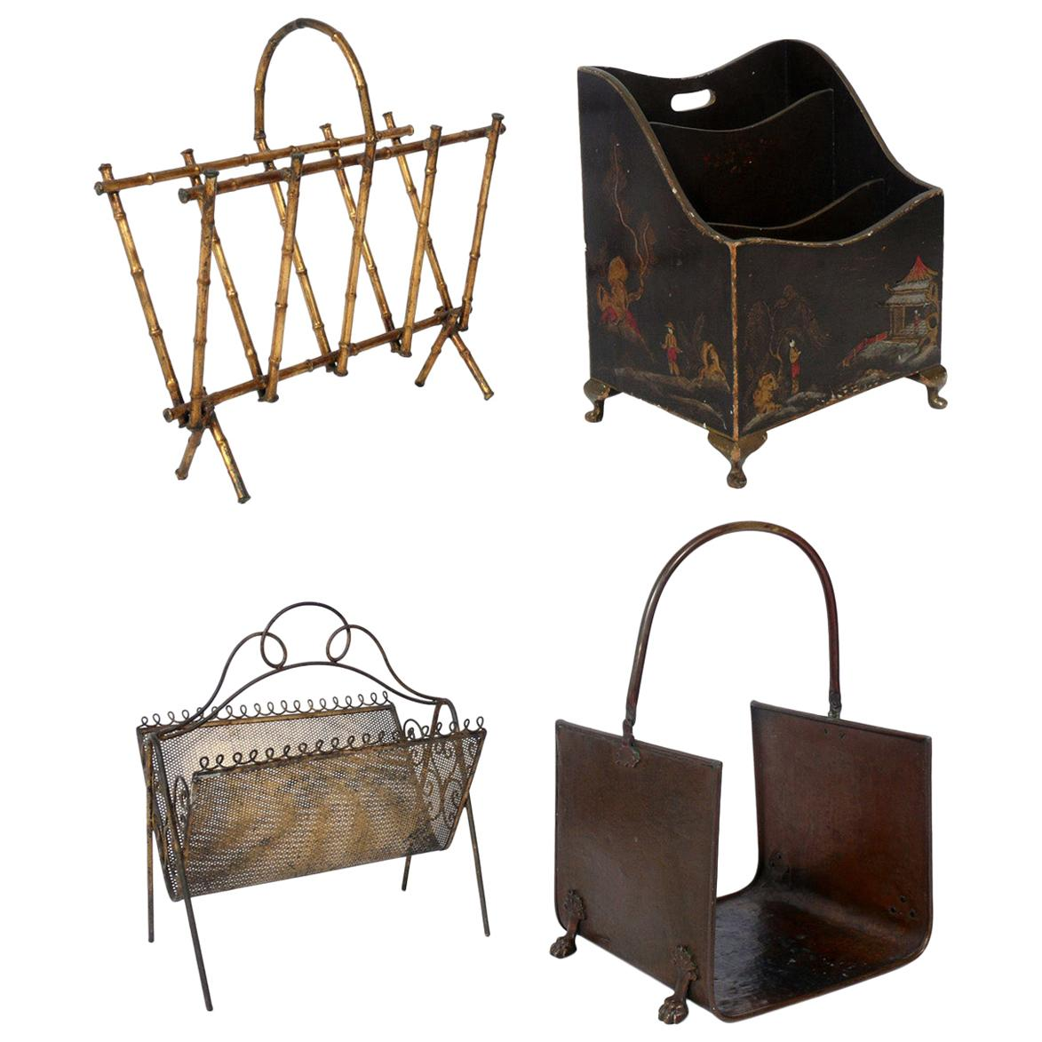 Selection of Magazine Racks or Log Holders
