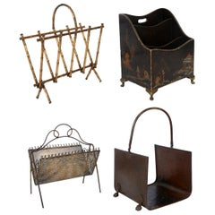 Selection of Magazine Racks or Log Holders