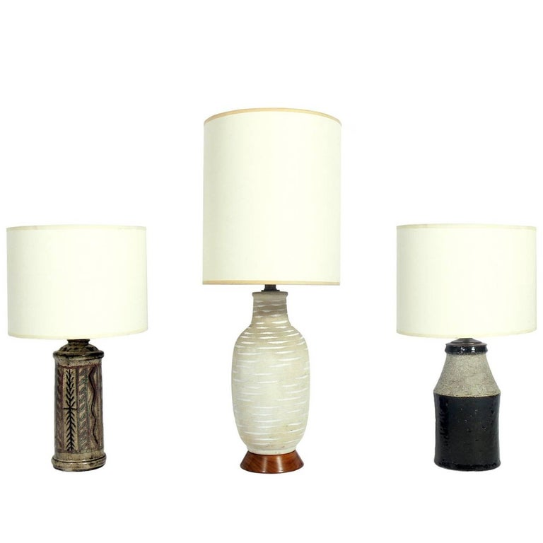 Selection of Mid-Century Modern Ceramic Lamps