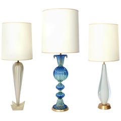 Selection of Midcentury Murano Glass Lamps