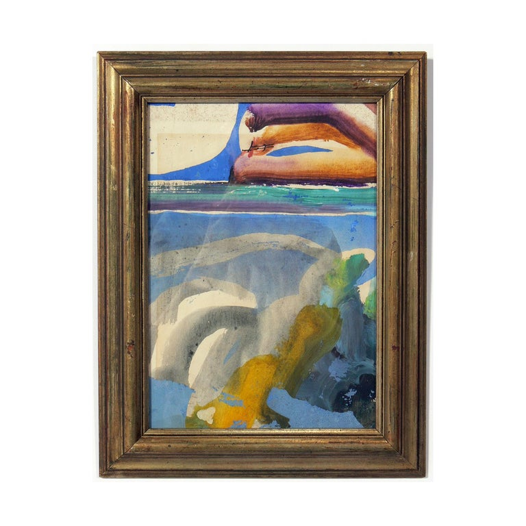 Selection of modern art or gallery wall, circa 1950s-1960s. From left to right, they are: