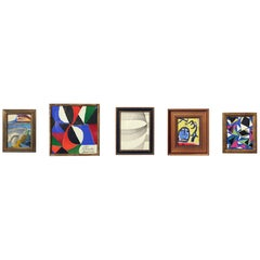 Selection of Modern Art or Gallery Wall