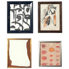 Selection of Modernist Abstract Artwork or Gallery Wall