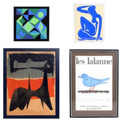 Selection of Modernist Art Lithographs or Serigraphs