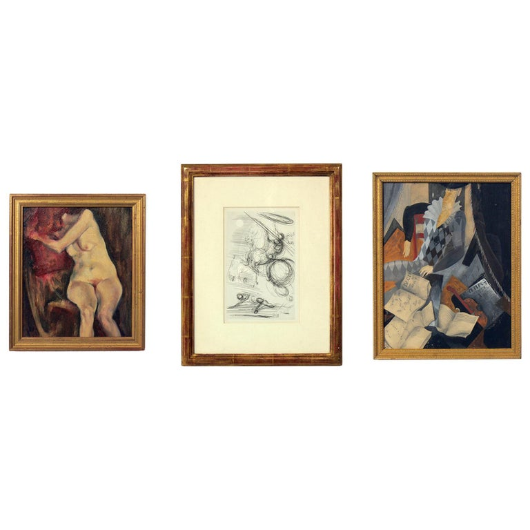 Selection of Modernist Art or Gallery Wall For Sale