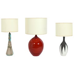 Selection of Modernist Ceramic Lamps