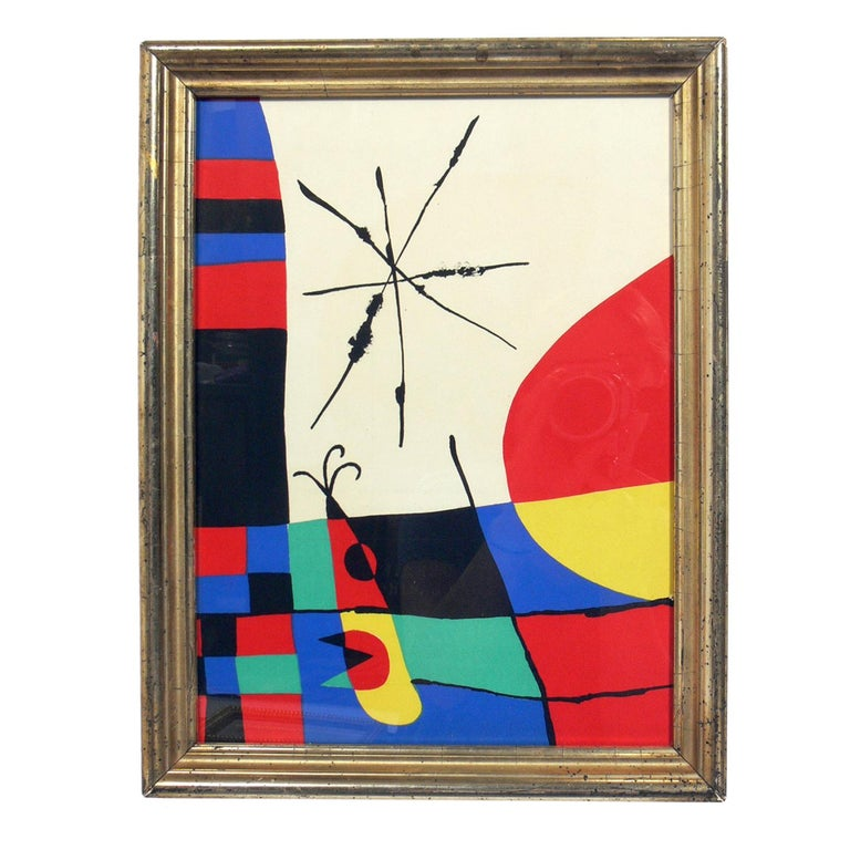 French Selection of Modernist Lithographs For Sale
