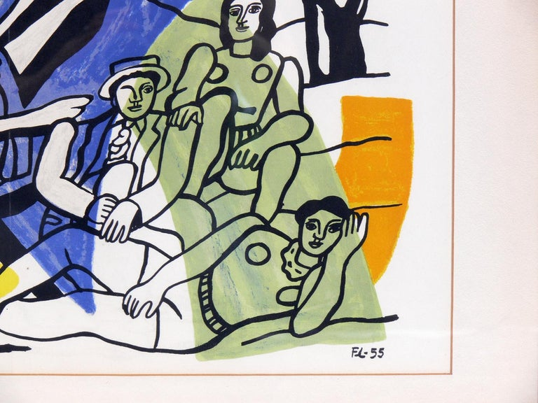 Glass Selection of Modernist Lithographs For Sale