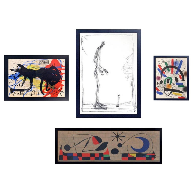Selection of Modernist Lithographs or Gallery Wall For Sale