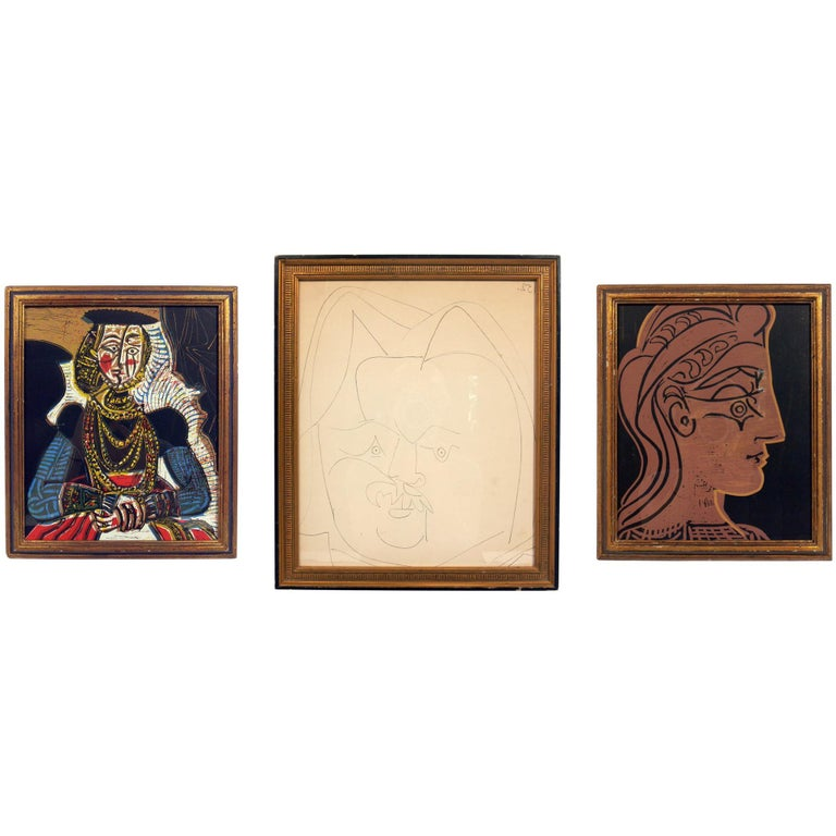 Selection of Pablo Picasso Portrait Lithographs For Sale