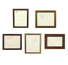 Selection of Pablo Picasso Prints in Vintage Gilt Frames