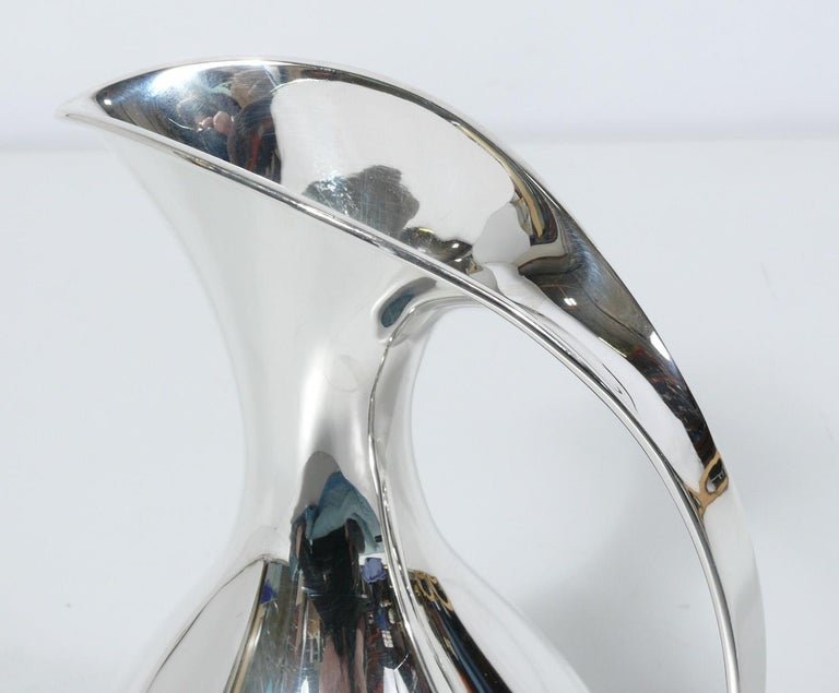 Mid-Century Modern Selection of Sculptural Danish Modern Sterling Pitchers by Kay Fisker For Sale
