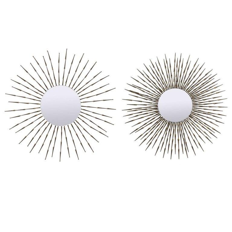 Selection of Sculptural Starburst Nail Mirrors