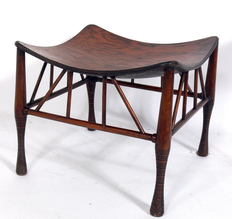Mid-Century Modern Selection of Sculptural Stools For Sale