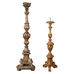 Selection of Two 20th Century Wooden Classic Candleholders