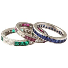 Selection of Vintage Eternity Bands