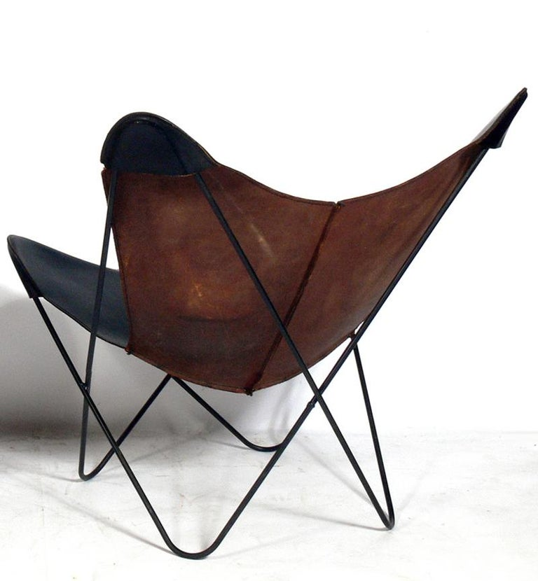 Vintage Furniture For Sale Online: Selection Of Vintage Leather Butterfly Chairs For Sale At