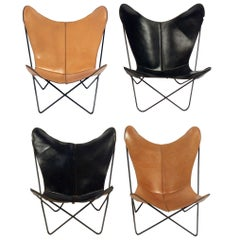 Selection of Vintage Leather Butterfly Chairs