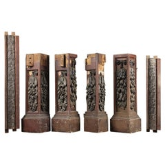 Selection Victorian Short Decorative Columns, 20th Century