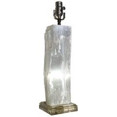Selenite Crystal Stone Table Lamp