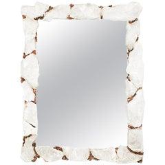 Selenite Mirror with Copper