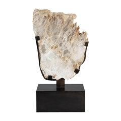 Selenite Sculpture on Museum Mount