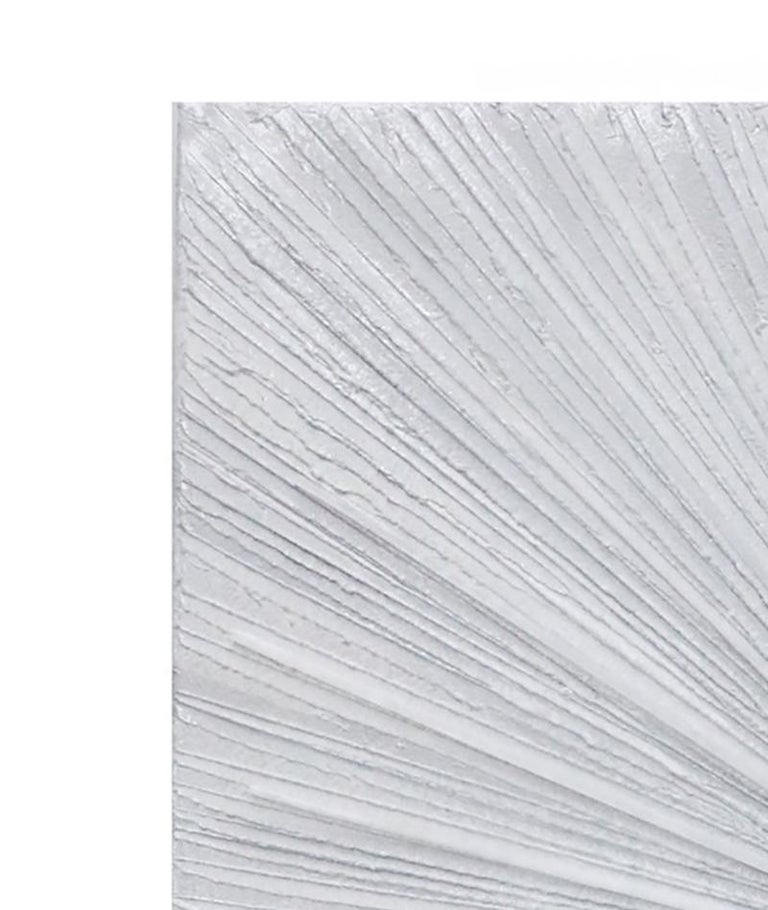 American Selenite Sunray Painted Canvas For Sale