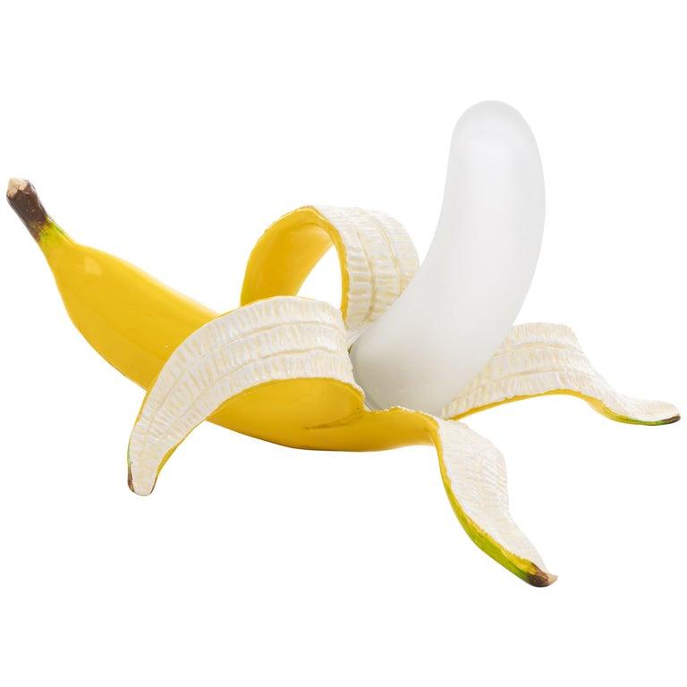 "Seletti Banana Table Lamp ""Dewey"" in Yellow by Studio Job For Sale"
