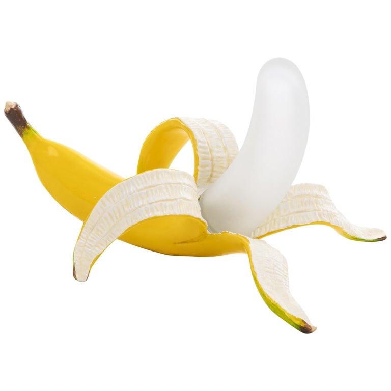 "Seletti Banana Table Lamp ""Louie"" in Yellow by Studio Job For Sale"