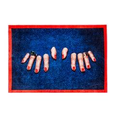 "Seletti  ""Fingers"" Rectangular Rug by Toiletpaper"