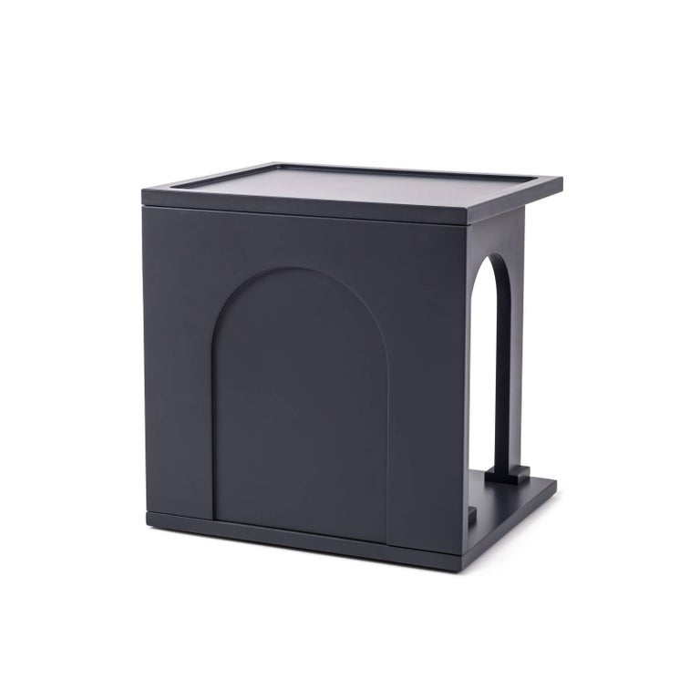 """Modern Seletti Library Modular Wooden """"Renaissance-Arc"""", Anthracite For Sale"""
