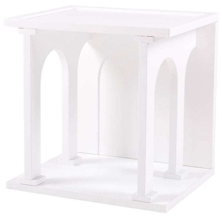 "Seletti Library Modular Wooden ""Renaissance-Arc"", White For Sale"