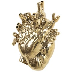 Seletti 'Love in Bloom' Gold Edition Heart Vase by Marcantonio
