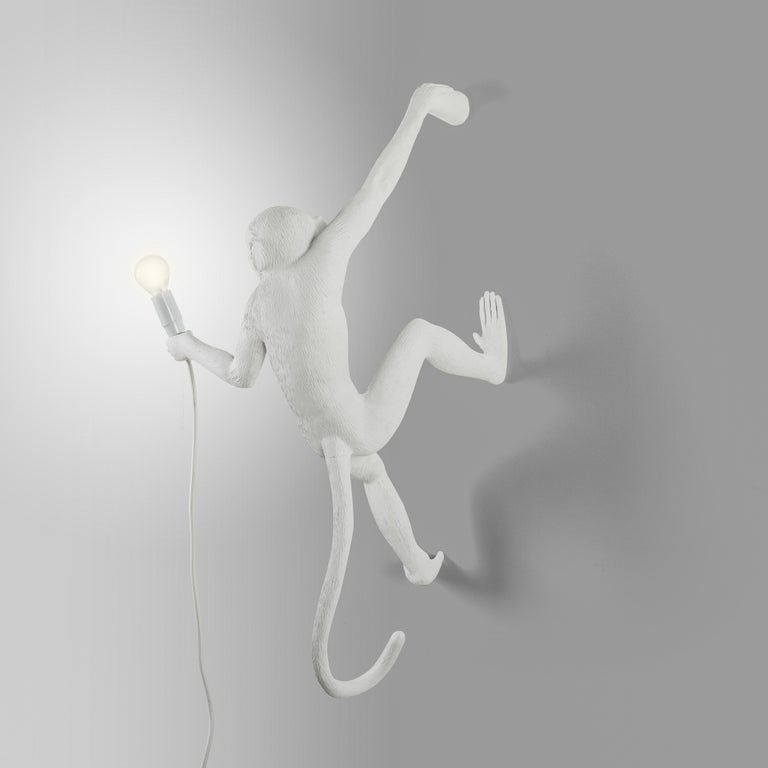 A crazy and crafty family. Monkey lamps have a strong theatrical impact in which art, design and the world of nature blend together creating magical products. The perfect scenography for your home.  - Hanging lamp - Material: Resin - Size: cm.