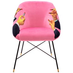 "Seletti Pink ""Lipsticks"" Upholstered Occasional Chair by Toiletpaper"