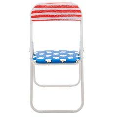 "Seletti ""Popcorn"" Metal Folding Chair by Studio Job"