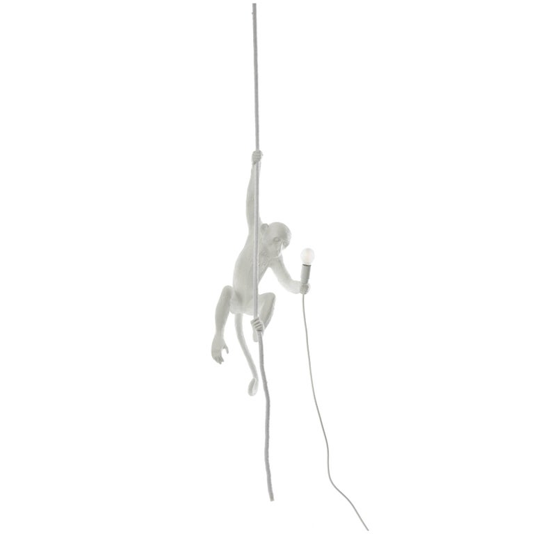Seletti Resin Lamp 'Monkey Lamp-Us', with Rope
