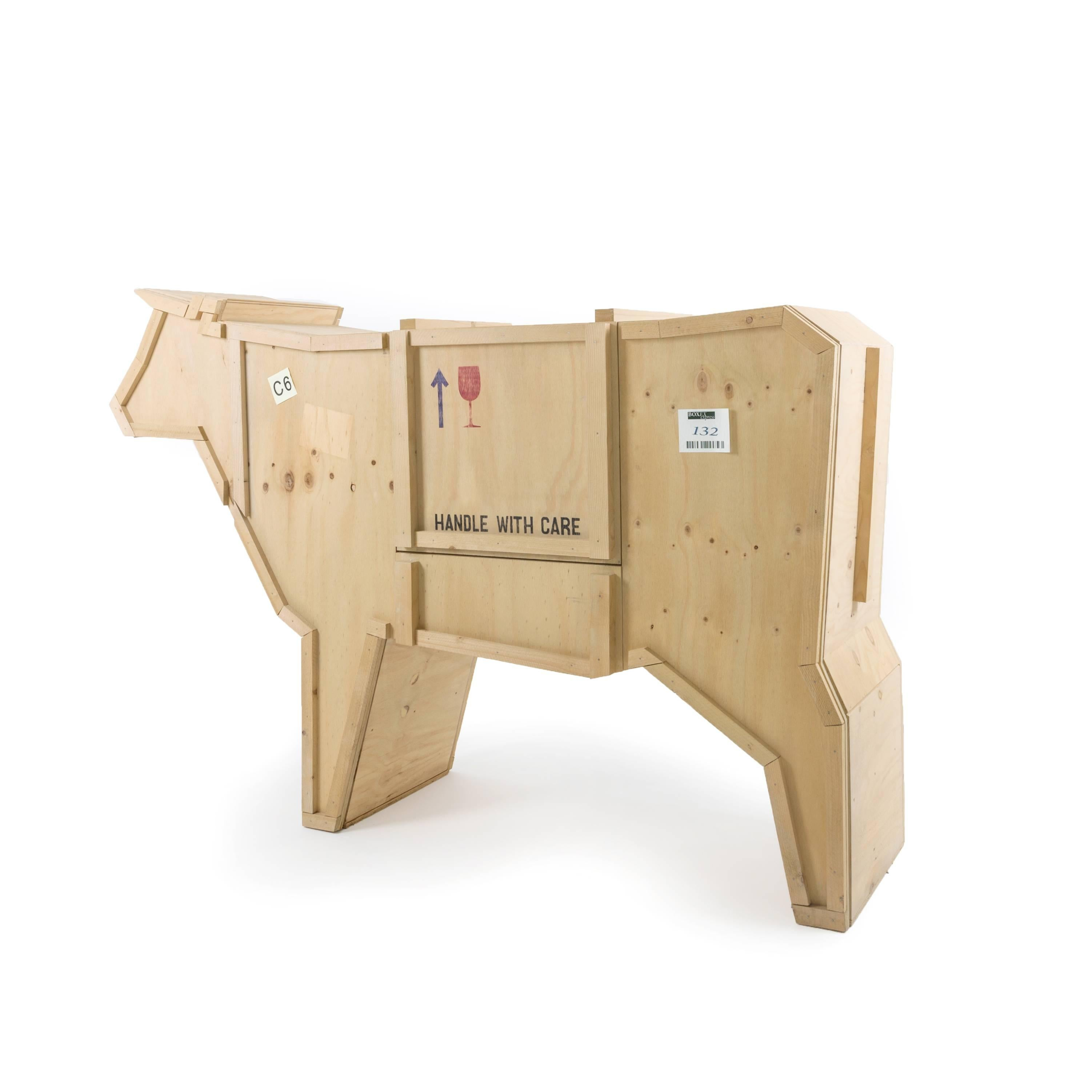 Seletti sending animals wooden credenza cow for sale at 1stdibs